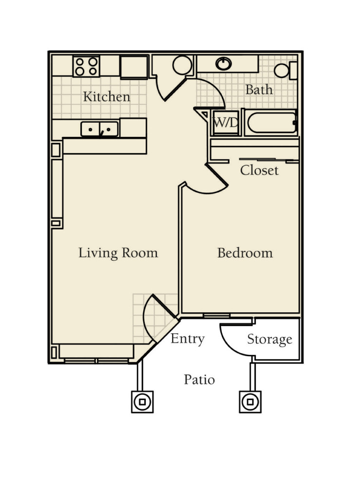 -Aspen 1  BED/1 BATH 650 Sq.ft.Sq.ft.